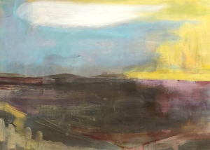 Patricia Carlow -  Seascape With Yellow Sky