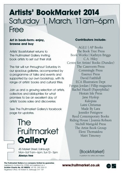 1st March 2014 at the Fruitmarket Gallery