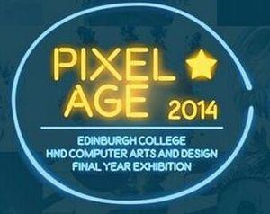 Pixel Age Exhibition - HND2 Computer Arts & Design students of Edinburgh College