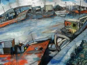 Boats at Leith - Alan Kay (image)