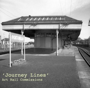 'Journey Lines' Image of Portobello station