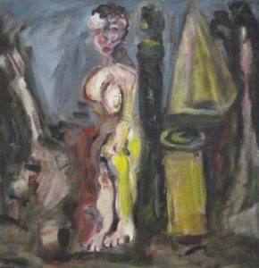 Figure and Form 93cmx90cm oil on canvas