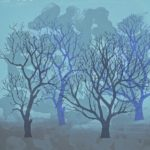 Winter Trees Blue - Rona MacLean