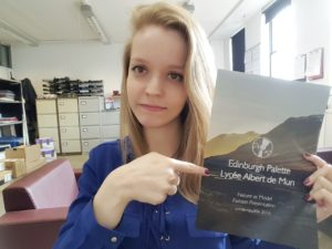 Marie, our new intern from Albert de Mun in France