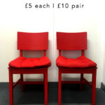 Red Chairs for sale, £5 each