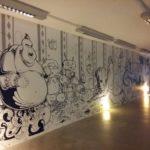 TMFC mural in Gallery 1 (2016)