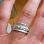 Make a silver spinner ring