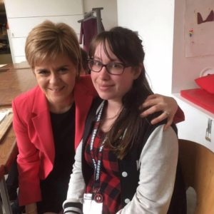 Nicola Sturgeon to apear on The Sarah Lomax show on SAM radio at St Margaret's house