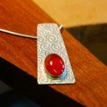 Make a silver stone set pendant