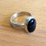 Make a silver stone-set ring
