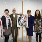 The artwork will be auctioned next year with the proceeds going to four charities – Food Train, SCIAF, Scottish Women's Aid and Teapot Trust.