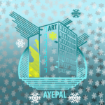 Building graphic with snowflakes