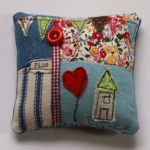 Free-Hand embroidered, appliqué cushion workshop