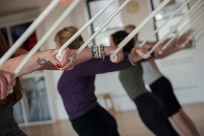 Dynamic Iyengar Yoga class