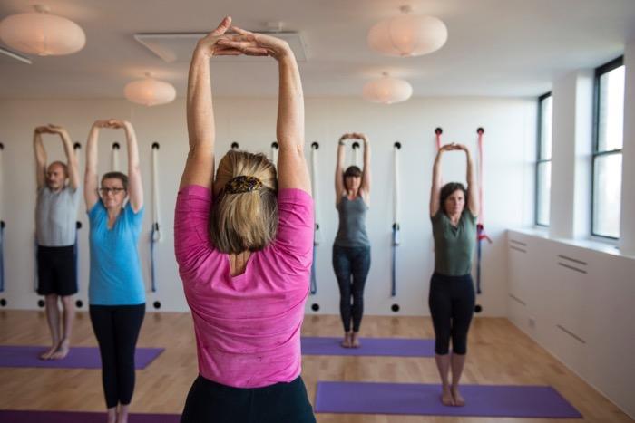 Gentle Iyengar yoga class