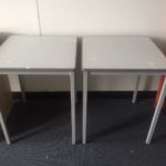 Metal tables (56 x 56cm each)