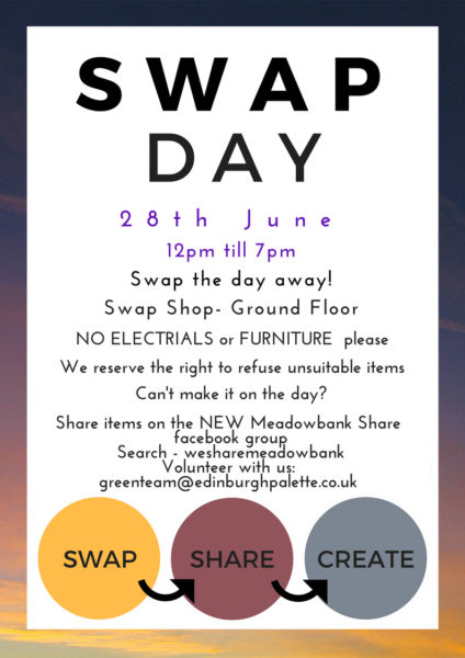 SWAPDAY 28th June in the swap shop