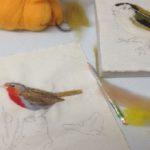 Needlefelting -  Birds Picture