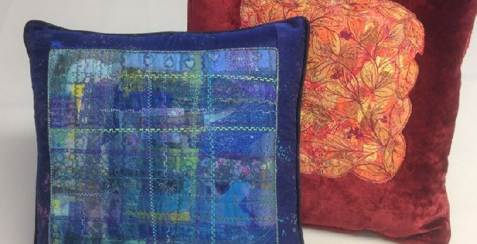 Scrappy Cushion - a creative textile upcycling workshop