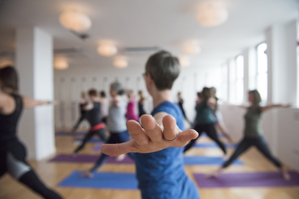 Iyengar yoga class - Level 2