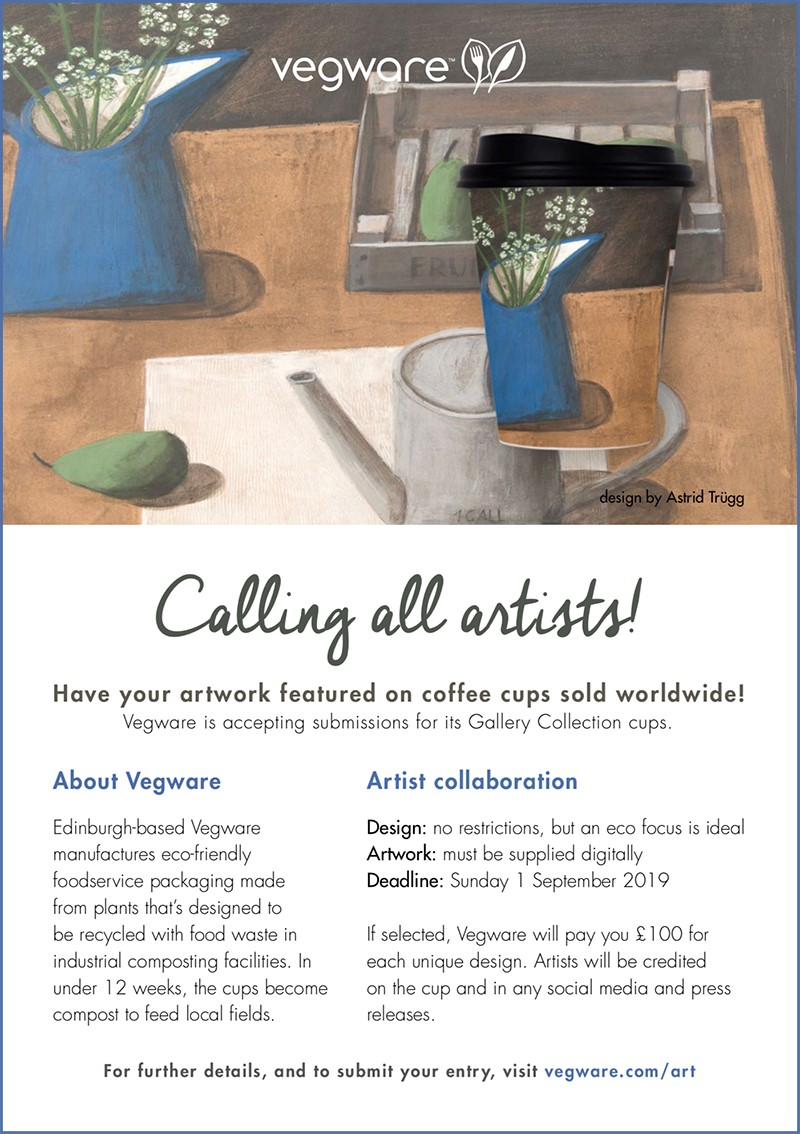 Have Your Artwork Featured on Coffee Cups Sold Worldwide