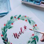 Watercolour Wreath Christmas Workshop