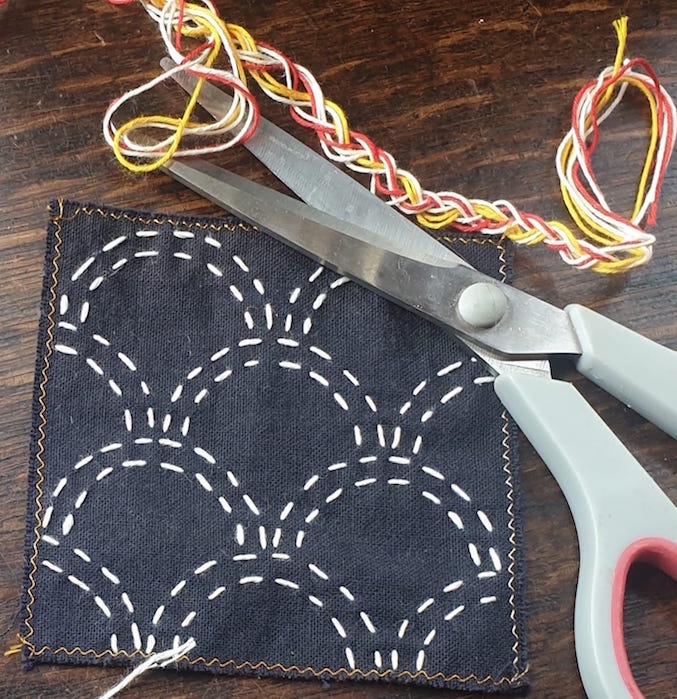 Sashiko Embroidery Zoom Session