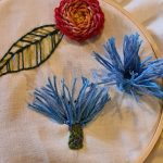 Online 3D Embroidered Flowers sewing session