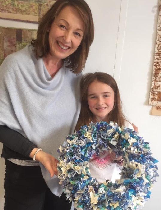 Childrens' craft class - Make a Christmas Rag Wreath